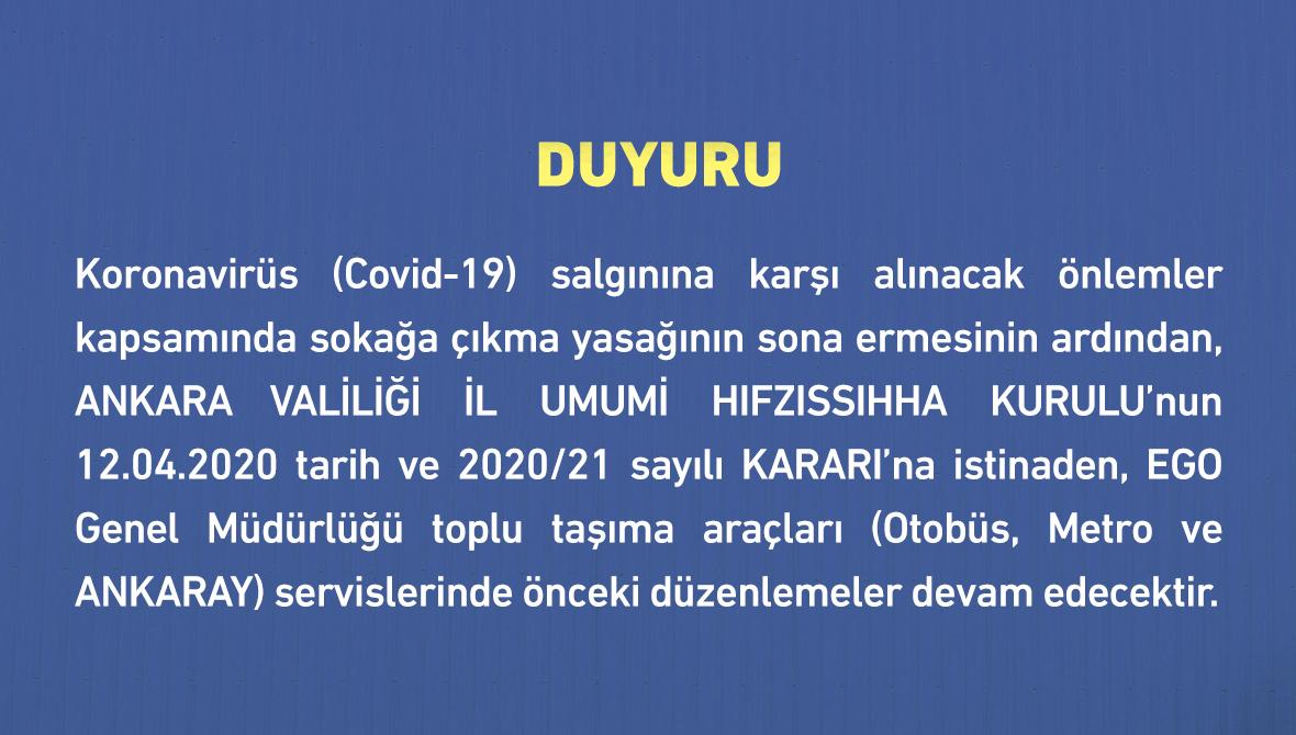 DUYURU (19 MAYIS 2020)